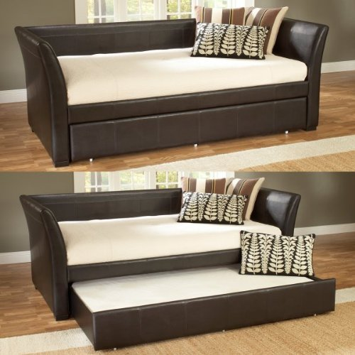 Hillsdale Malibu Brown Leather Daybed with Trundle