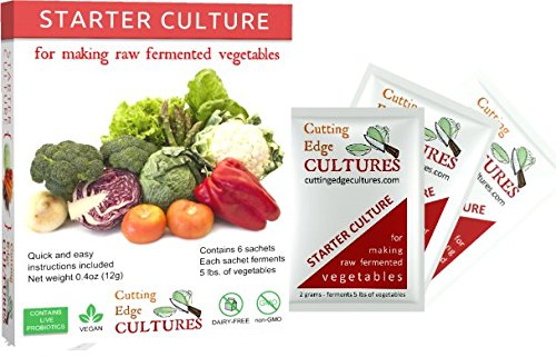 Cutting Edge Cultures Vegetable Starter Culture, 6 Pouches, 12g (Starter Cultures compare prices)
