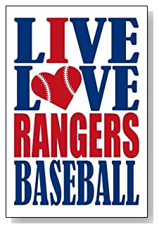 Live Love I Heart Rangers Baseball lined journal - any occasion gift idea for Texas Rangers fans from WriteDrawDesign.com