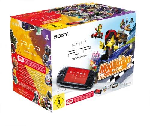 PlayStation Portable - PSP Konsole Slim & Lite, black + ModNation Racers