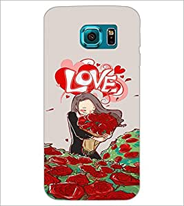 PrintDhaba Love Image D-3931 Back Case Cover for SAMSUNG GALAXY S6 EDGE (Multi-Coloured)