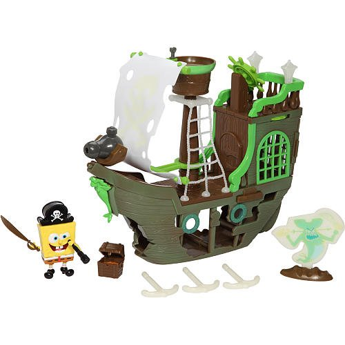 Buy SpongeBob Squarepants Playset Flying Dutchman's Ghost Ship