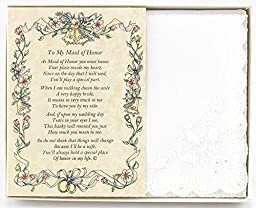 From The Bride to her Maid of Honor Wedding Handkerchief