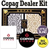 Copag Playing Cards Dealer Kit - 1546 Black/Gold Poker Regular