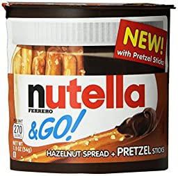 Nutella and Go Pretzel, (Pack of 12)