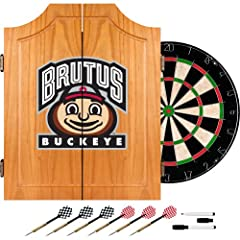Buy NCAA Ohio State University Version 2 Dart Cabinet Set by Trademark Global