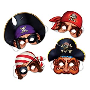 Pirate Masks Party Accessory (1 count) (4/Pkg) from The Beistle Company