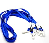 Rockin Beads Brand, 20 Economy Blue Neck Strap Lanyard for Id Card 16 Inch Long