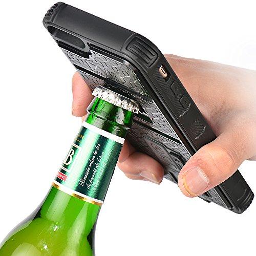(ゼットウィイ-)ZVE多機能iPhone 6plus用ケース ライター/栓抜き/カメラ 三脚機能を付く (ブラック)