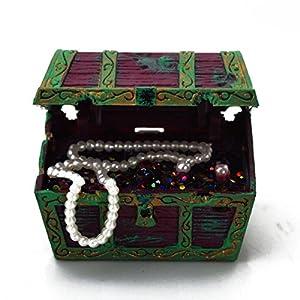 Aquarium fish tank treasure ornament air for Fish tank treasure chest