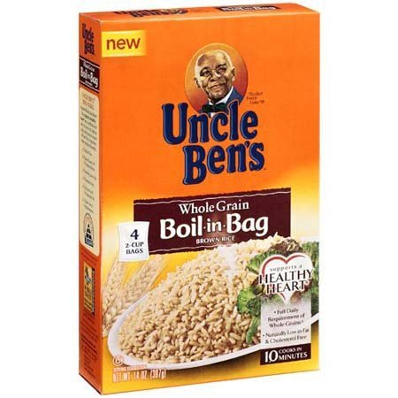 Uncle Ben's, Whole Grain, Boil-In-Bag, Brown Rice, 4 Count, 14oz Box (Pack of 4) (Boil In The Bag Rice compare prices)