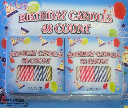 Spiral Birthday Candles 48 Count - 1
