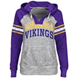 NFL Minnesota Vikings Women's Huddle Hoodie III Pullover, Steel He, Large at Amazon.com