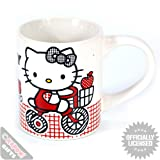 HELLO KITTY BOXED MUG - BIKE CYCLING - Retro Funky Gift Ideas for Her Girl Child Present