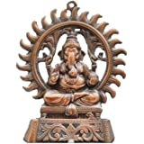 JaipurCrafts Matel Wall Hanging Of Lord Ganesha Showpiece - 24.13 Cm (Aluminium, Brown)
