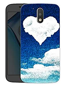 "Heart In Clouds Printed Designer Mobile Back Cover For ""Motorola Moto G4"" (3D, Matte, Premium Quality Snap On Case)"