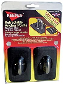 Keeper 05654 Bull Ring Anchor Point, Universal Fit, 1,000 lbs Break Strength, 2 Pack
