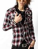 お兄系 チェックシャツ メンズ【 シワ加工 ワイヤー入り チェック ウエスタン シャツ 】