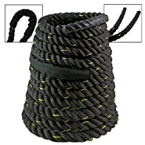 "50Ft x 1.5"" Battle Rope Fitness Strength Endurance Building Cardio Interval Core Undulation Wave Training"