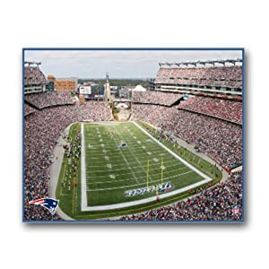 NFL New England Patriots Stadium 22x28 Canvas Art by Pangea Brands