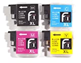 Brother LC39, LC985, C/Y/M/BK - Multipack Set of 4 Brother Compatible Ink Cartridges for Brother DCPJ125, DCPJ315W, DCPJ515W, MFCJ265W, MFCJ410, MFCJ415W, MFCJ220 Printer Inks (Contains: LC985BK, LC985C, LC985Y, LC985M) Double Capacity In Stock