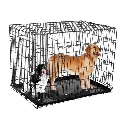 crate kennels large dogs cages 36 inch dog pet folding. Black Bedroom Furniture Sets. Home Design Ideas