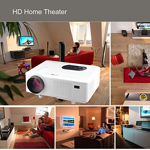 3000 Lumens Hd Home Theater Multimedia Lcd Led Projector: Excelvan CL720 Home Theater Multimedia LCD Projector (3000