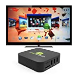 Android TV Box Media Player - Dual Core Smart Internet 1080p HD WiFi Player Running Android 4.2.2 - Fully Loaded with XBMC for Streaming Football, Sports, Movies & TV Shows - By Droidplayer®