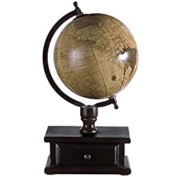 Globe With Storage Drawer, 16.5\