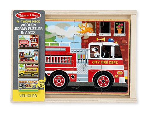 Melissa & Doug 4  Puzzles in a Box