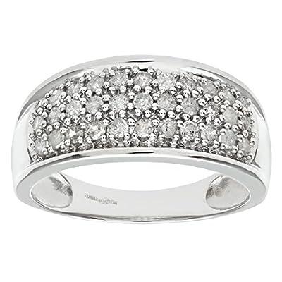 Ariel 9ct White Gold Half Carat Diamond Pave Set Multi Row Eternity Ring