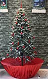 Snowing Christmas Tree Red Base 6 Feet 8 Inches Tall