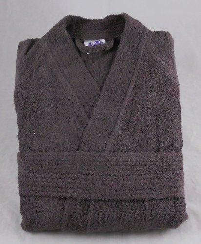 100% Cotton Terry Towelling Bathrobe Bath Robe + Matching Belt - TAUPE