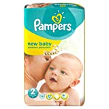 2 x Pampers Nappies New Baby Size 2 (Mini) 3-6kg/6-13lbs 56 Nappies