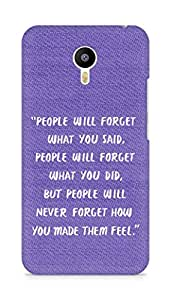 AMEZ people will forget what you said did Back Cover For Meizum 2 Note