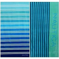 Nautica Colorblock Stripe and Ombre Stripe Beach Towel Set