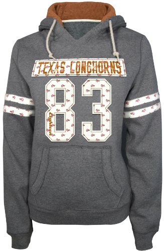 NCAA Women's Texas Longhorns Field Goal Pull Over Hoodie (Light Charcoal Heather, Medium) at Amazon.com