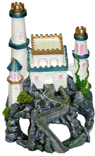 Exotic Environments Princess Castle Cavern Aquarium Ornament, 6-Inch by 7-Inch by 8-Inch