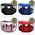 """ToysOpoly Pet Playpen 45"""" Exercise Puppy Pen Kennel - Best for Dogs and Cats Safe in Their Play-pen While Protecting The Little Kids - Folding Design Easy Storage"""