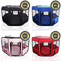 """ToysOpoly 45"""" Indoor/Outdoor Pet Playpen Cage. Best Exercise Kennel for Your Dog, Cat, Rabbit, Puppy, Hamster or Guinea Pig. Portable Pen for Easy Travel"""