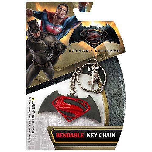 Batman v Superman Logo Bendable Keychain