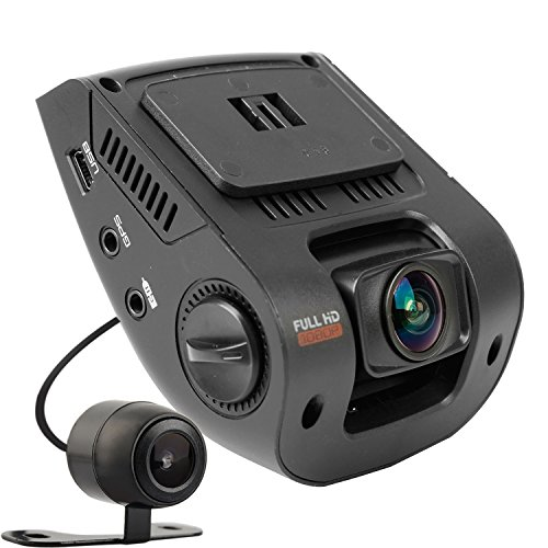 REXING V1P Dash Cam Dual Front and Rear with 260 Degree Angle 1080P HD Night Vision Car Vehicle Dashboard Camera