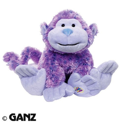 [Webkinz Sugarplum Cheeky Monkey Plush Toy with Sealed Adoption Code by Webkinz] (Sugar Plum Princess Costume Webkinz)
