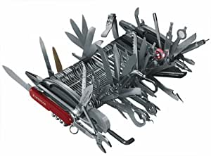 Wenger Schweizer Offiziersmesser Giant Messer, mit Schatulle