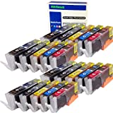 ink4work© Set of 20 Pack PGI-250XL & CLI-251XL Compatible Ink Cartridge Set for Pixma IP7220, MG5420, MG6320, MX722, MX922