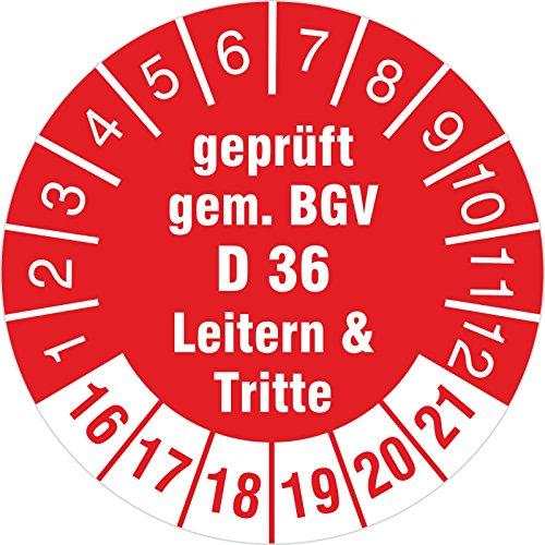 geprft-gem-BGV-D-36-Leitern-Tritte-rot-2016-2021-Prfplakette-30-mm-Durchmesser-Prfplakette-Prfetikett-Prfaufkleber-selbstklebend-100-Stck