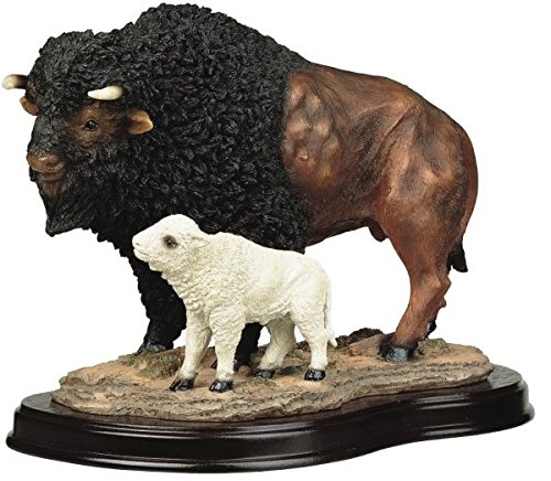 StealStreet Buffalo with Baby Collectible Wildlife Figurine Sculpture Statue Model