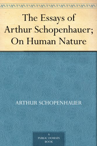 schopenhauer essay on spirit seeing 856 quotes from arthur schopenhauer: 'talent hits a target no one else can hit genius hits a target no one else can see', 'compassion is the basis of morality', and 'a man can be himself only so long as he is alone and if he does not love solitude, he will not love freedom for it is only when he is alone that he is really free.