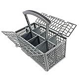 Universal-Lave-vaisselle-Couverts-panier-Cage-Couvercle-et-poigne-amovible-235-x-242-x-130