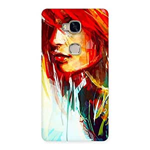 Ajay Enterprises Art Girl Beauty Multicolor Back Case Cover for Huawei Honor 5X